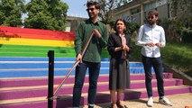 Inauguration d'un escalier contre l'homophobie à l'université Rennes 2
