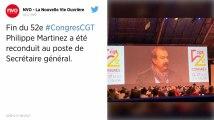 Philippe Martinez réélu secrétaire général de la CGT, à l'issue du 52e congrès du syndicat