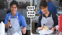 Charles Melton Attempts To Keep Up with a Professional Chef