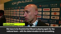 (Subtitled) 'Be thankful for Messi' return says Zabaleta ahead of Argentina's summer Copa America campaign