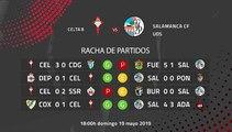 Previa partido entre Celta B y Salamanca CF UDS Jornada 38 Segunda División B