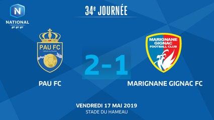 J34: PAU FC - MARIGNANE G. FC (2-1), le résumé