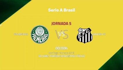 Previa partido entre Palmeiras y Santos FC Jornada 5 Liga Brasileña