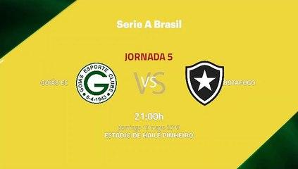 Previa partido entre Goiás EC y Botafogo Jornada 5 Liga Brasileña