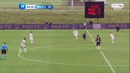 Ouverture du score de YANKUBA JARJU sur une magnifique frappe puissante !!! 1-0 pour le Pau FC !