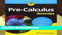 Any Format For Kindle  Pre-Calculus For Dummies by Mary Jane Sterling