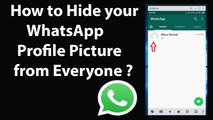 How to Hide your WhatsApp Profile Picture from Everyone?