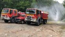 Exercices feux de forêt des pompiers de Fontenay-le-Comte