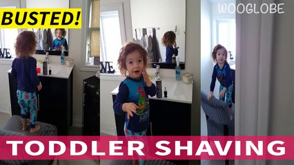 Toddler caught shaving by mom