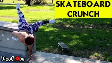 Skateboard Fail Cause Back Crunch