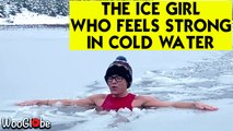 The Ice Girl Who Loves To Swim in Cold Water