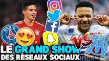 Le PSG aime James Rodriguez, Depay taille l'OM, Domenech descend Bielsa : le Grand Show des Réseaux Sociaux