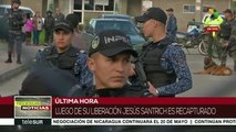 Colombia: Santrich es recapturado sólo minutos después de ser liberado