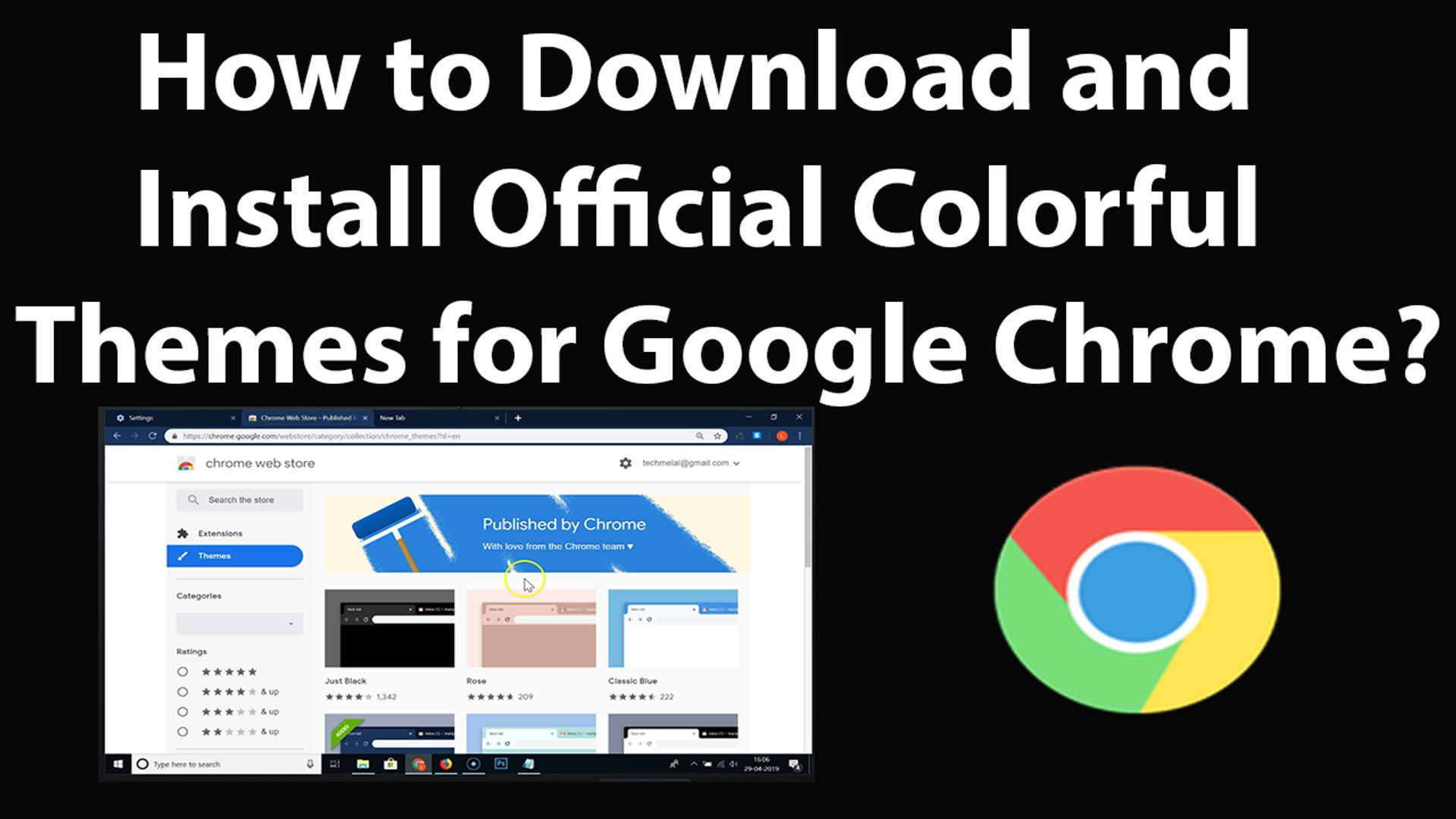 How to Download and Install Official Colorful Themes for Google Chrome?