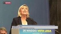 Marine Le Pen à Milan avec ses alliés européens, une semaine avant les élections européennes.