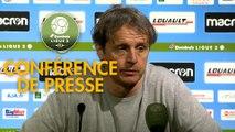 Conférence de presse AJ Auxerre - Valenciennes FC (1-1) : Cédric DAURY (AJA) - Réginald RAY (VAFC) - 2018/2019
