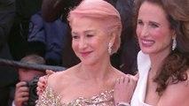 Dame Helen Mirren et Andie McDowell sur les marches - Cannes 2019