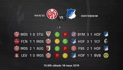 Previa partido entre Mainz 05 y Hoffenheim Jornada 34 Bundesliga