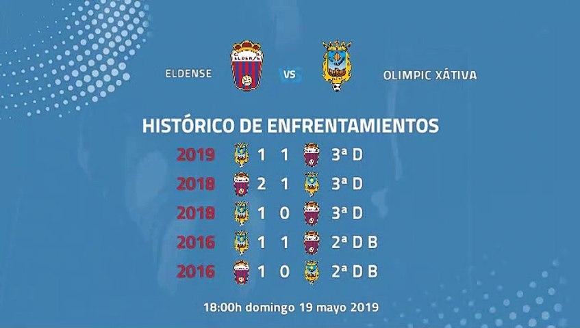 Previa partido entre Eldense y Olimpic Xátiva Jornada 38 Tercera División