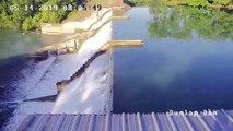 Un barrage se casse sous la pression de l'eau