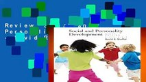 Review  Social and Personality Development - David R Shaffer