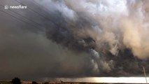 """""""Apocalyptic"""" storm cloud sweeps across Oklahoma"""