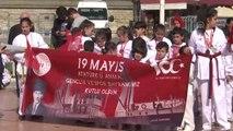 19 Mayıs Atatürk'ü Anma, Gençlik ve Spor Bayramı - Taksim'deki Cumhuriyet Anıtı'nda Tören Düzenlendi