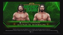 WWE 2K19: [Money in the Bank] AJ Styles vs Seth Rollins (Universal Championship)