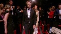Accueil de l'équipe du film Une vie cachée dans le Palais des Festivals - Cannes 2019