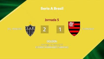 Resumen partido entre Atl. Mineiro y Flamengo Jornada 5 Liga Brasileña