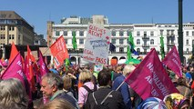 Thousands demonstrate in Europe ahead of European Parliamentary elections