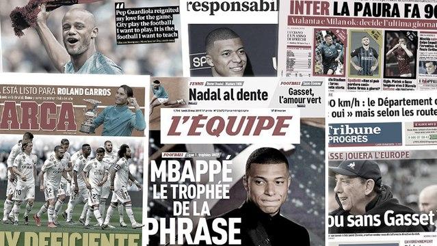 Les déclarations de Kylian Mbappé intriguent la France et l'Europe, le départ de Vincent Kompany de City fait les gros titres