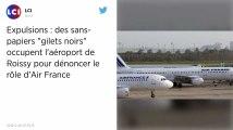 Des centaines de sans-papiers manifestent à l'aéroport Roissy-Charles-de-Gaulle