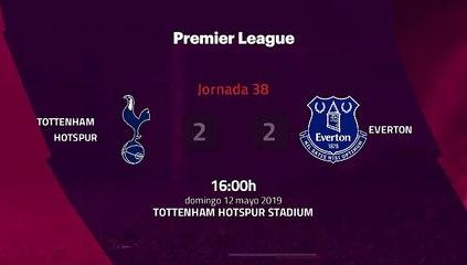 Resumen partido entre Tottenham Hotspur y Everton Jornada 38 Premier League