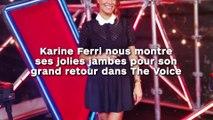 Karine Ferri nous montre  ses jolies jambes pour son  grand retour dans The Voice !