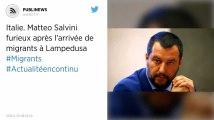 Italie. Matteo Salvini furieux après l'arrivée de migrants à Lampedusa