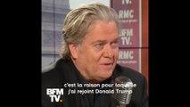 """""""Le mouvement souverainiste va renforcer l'Europe"""", selon Steve Bannon, soutien du RN aux européennes"""