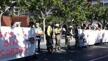 Bomberos forestales siguen con sus protestas en Logroño