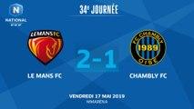 J34 : Le Mans FC - FC Chambly (2-1), le résumé I National FFF 2018-2019