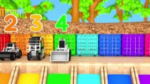 Learn Colors with Construction Vehicle and Flying Toy Car in Magic Slide Sand Pretend Play for Kids