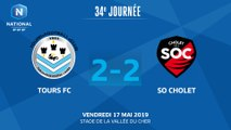 J34 : Tours FC - SO Cholet (2-2), le résumé I National FFF 2018-2019