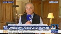 """Affaire Lambert: l'avocat de son épouse """"partage pleinement"""" la position d'Emmanuel Macron"""