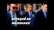 Nigel Farage attaqué au milkshake à Newcastle