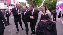 Gilles Lellouche, Marion Cotillard et Jean Dujardin au micro de Laurent Weil - Cannes 2019