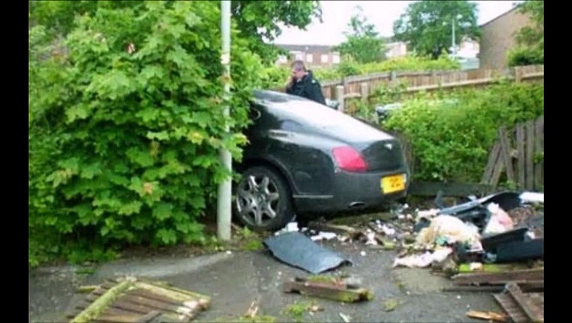 crash rolls royce bentley estrellados