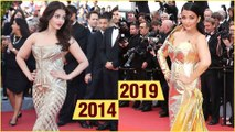 Cannes 2019 | Aishwarya Rai Golden Dress VS Cannes 2014 Golden Gown | Fashion Faceoff