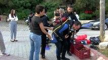 Antalya Kemer'de Deniz Dibi Temizliği Yapıldı
