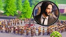 100 defaults vs 1 john wick | Fortnite Battle Royale