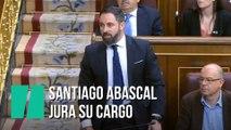 """""""¡Por España!"""", así ha jurado Santiago Abascal su cargo en el Congreso"""