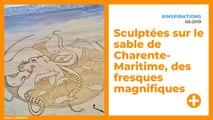 Sculptées sur le sable de Charente-Maritime, des fresques magnifiques